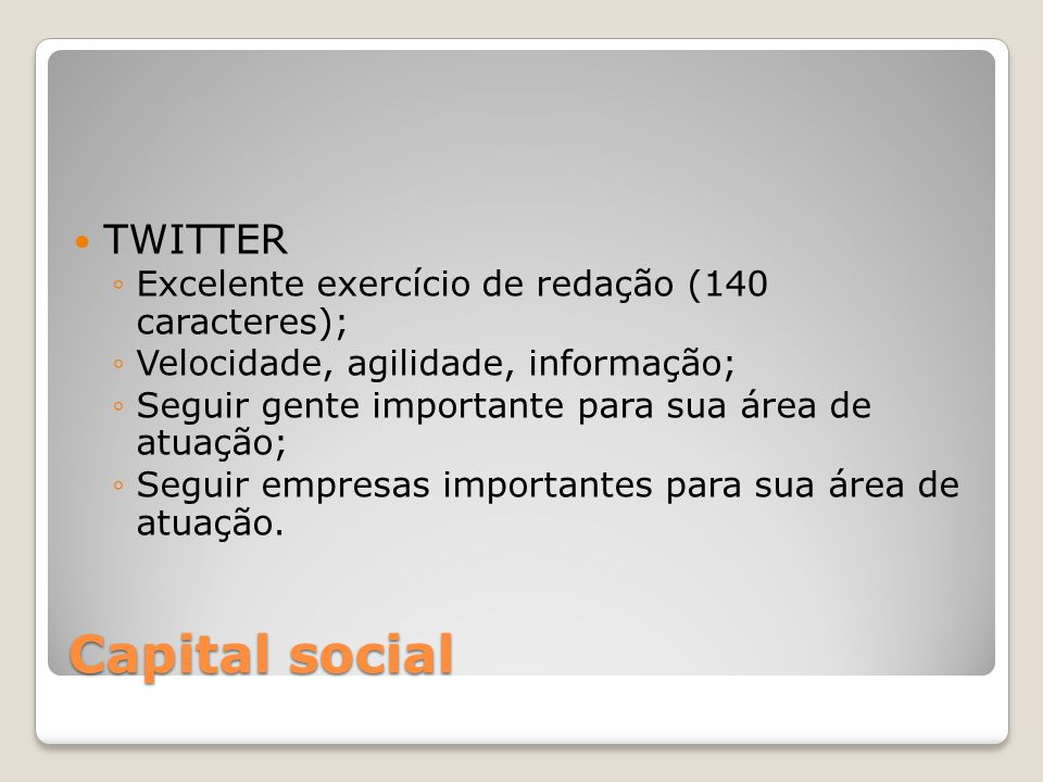 Capital social TWITTER