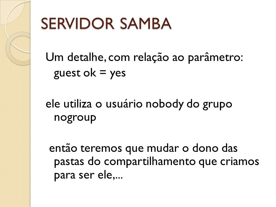 SERVIDOR SAMBA