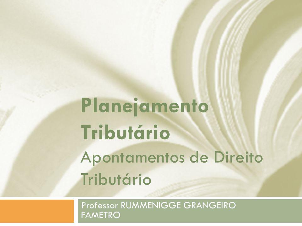 Planejamento Tributário Apontamentos de Direito Tributário