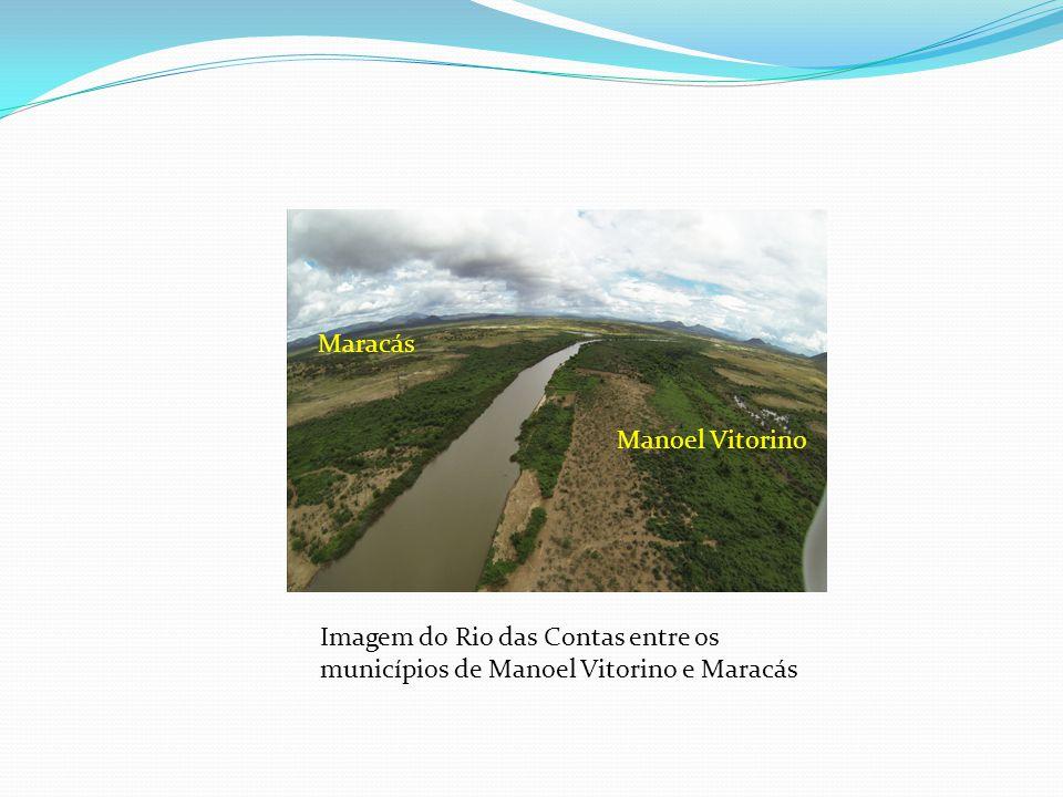 Maracás Manoel Vitorino Imagem do Rio das Contas entre os municípios de Manoel Vitorino e Maracás