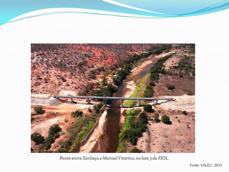 Ponte entre Tanhaçu e Manoel Vitorino, no lote 3 da FIOL.