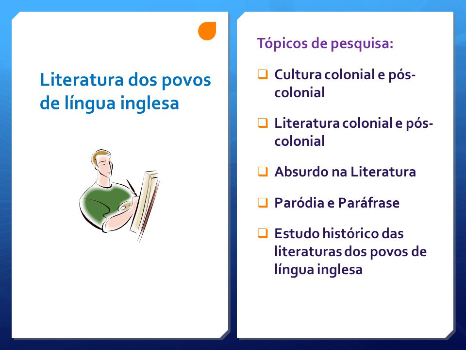 Literatura dos povos de língua inglesa