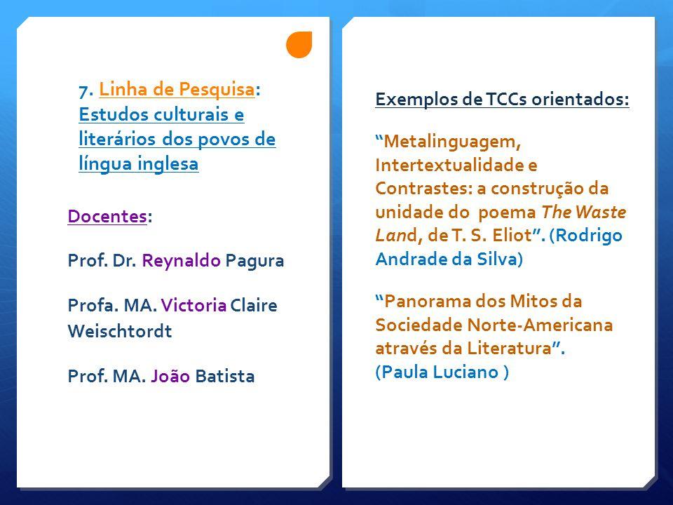 Exemplos de TCCs orientados: