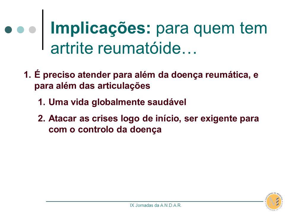 Implicações: para quem tem artrite reumatóide…