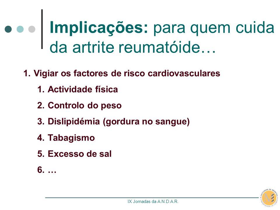 Implicações: para quem cuida da artrite reumatóide…