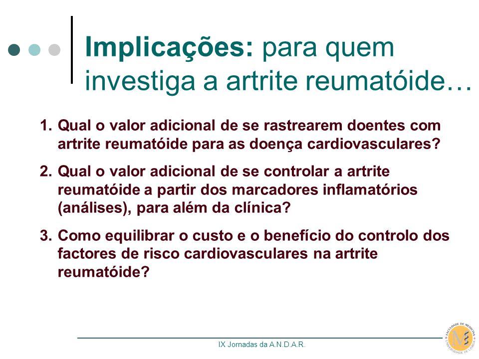 Implicações: para quem investiga a artrite reumatóide…