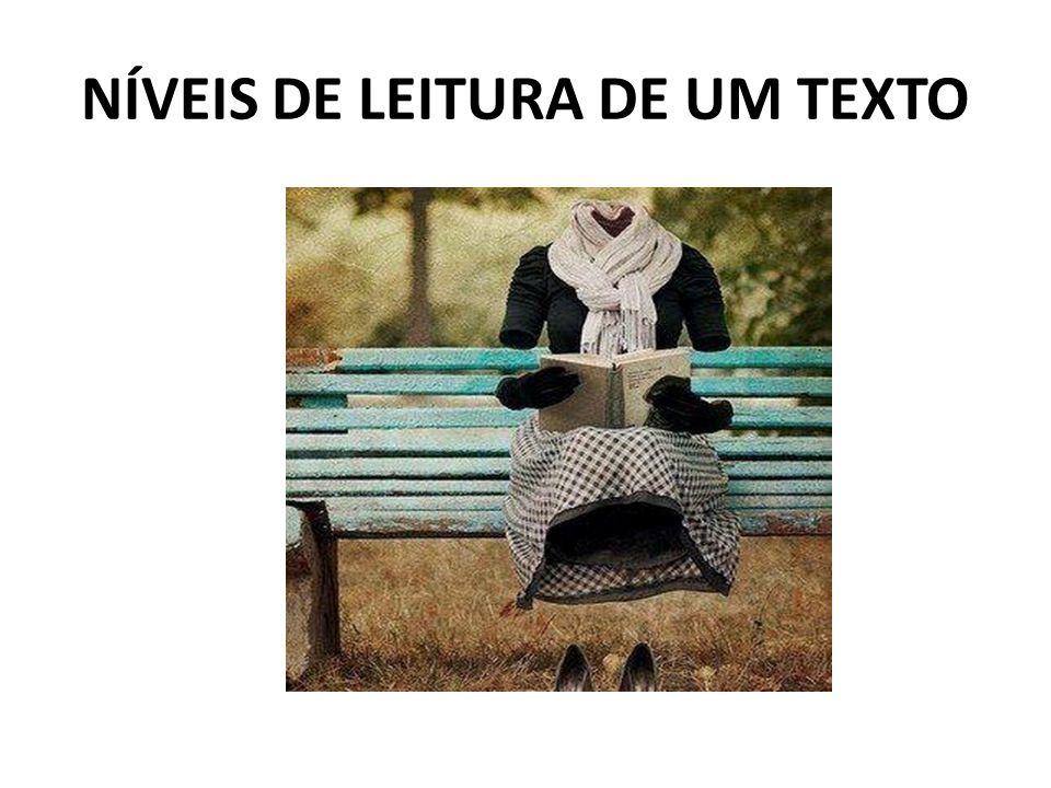 NÍVEIS DE LEITURA DE UM TEXTO