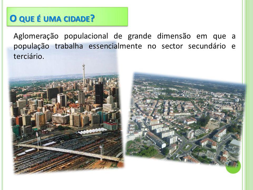 O que é uma cidade.