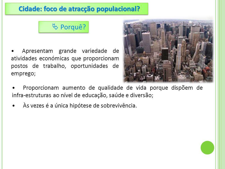 Cidade: foco de atracção populacional