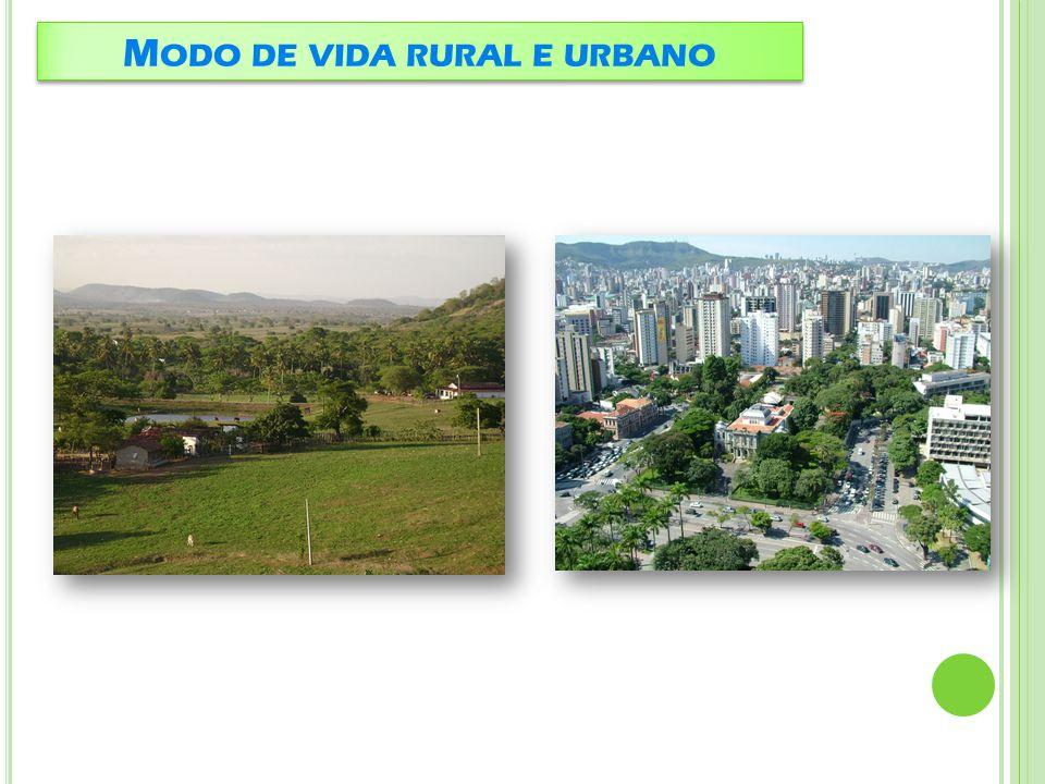 Modo de vida rural e urbano