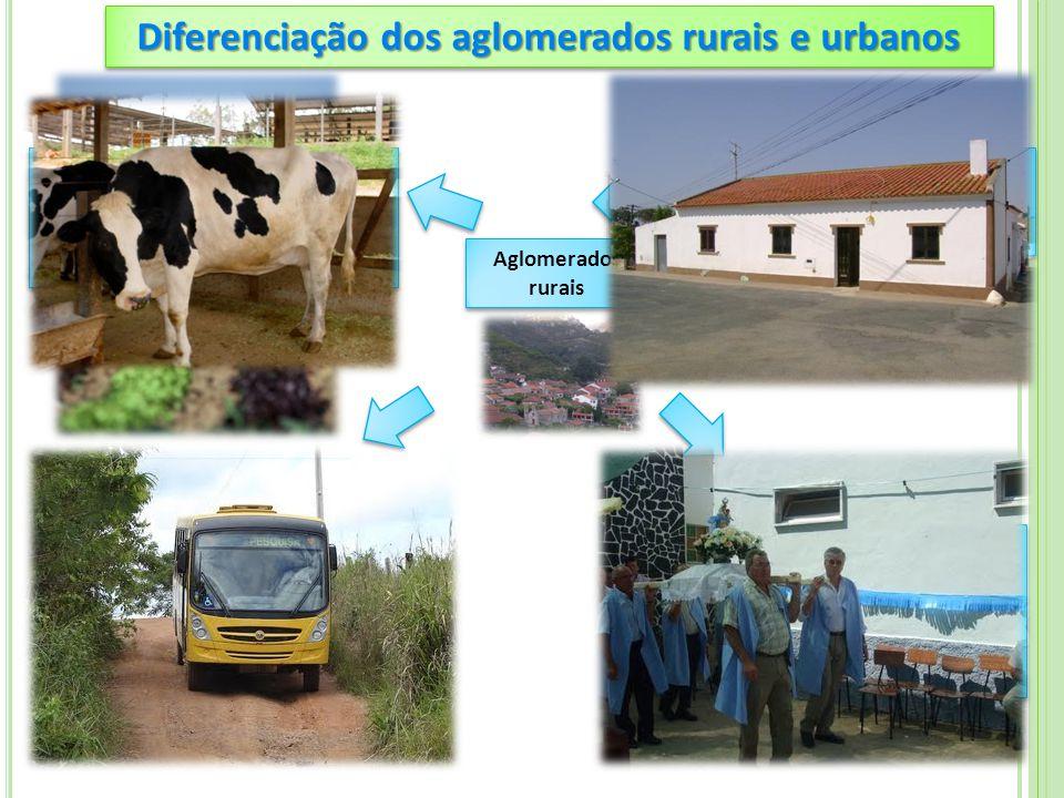 Diferenciação dos aglomerados rurais e urbanos