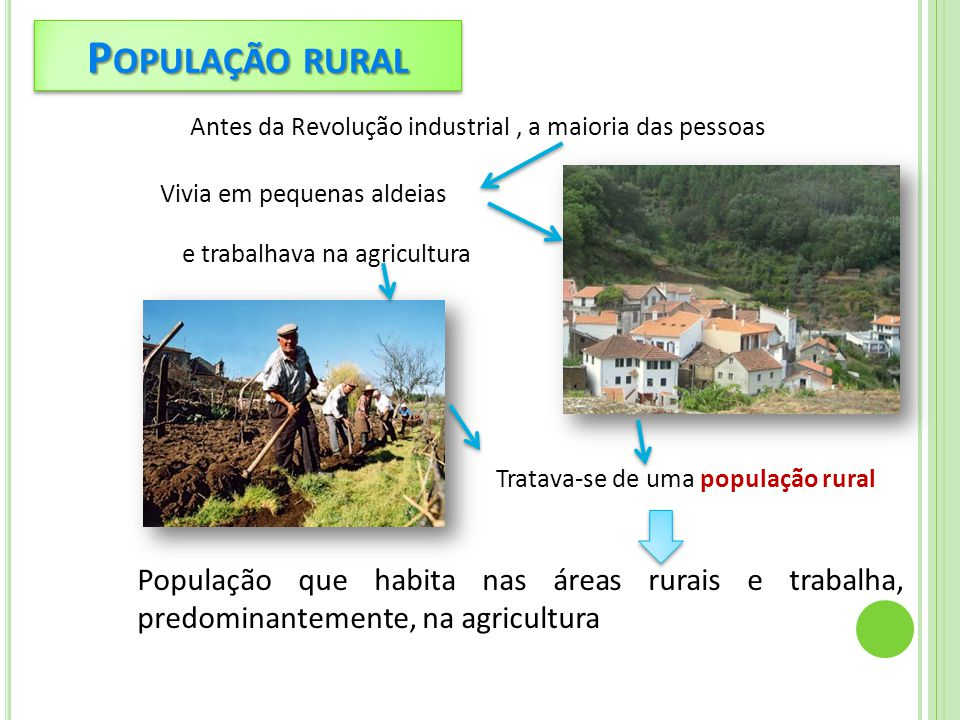 Tratava-se de uma população rural