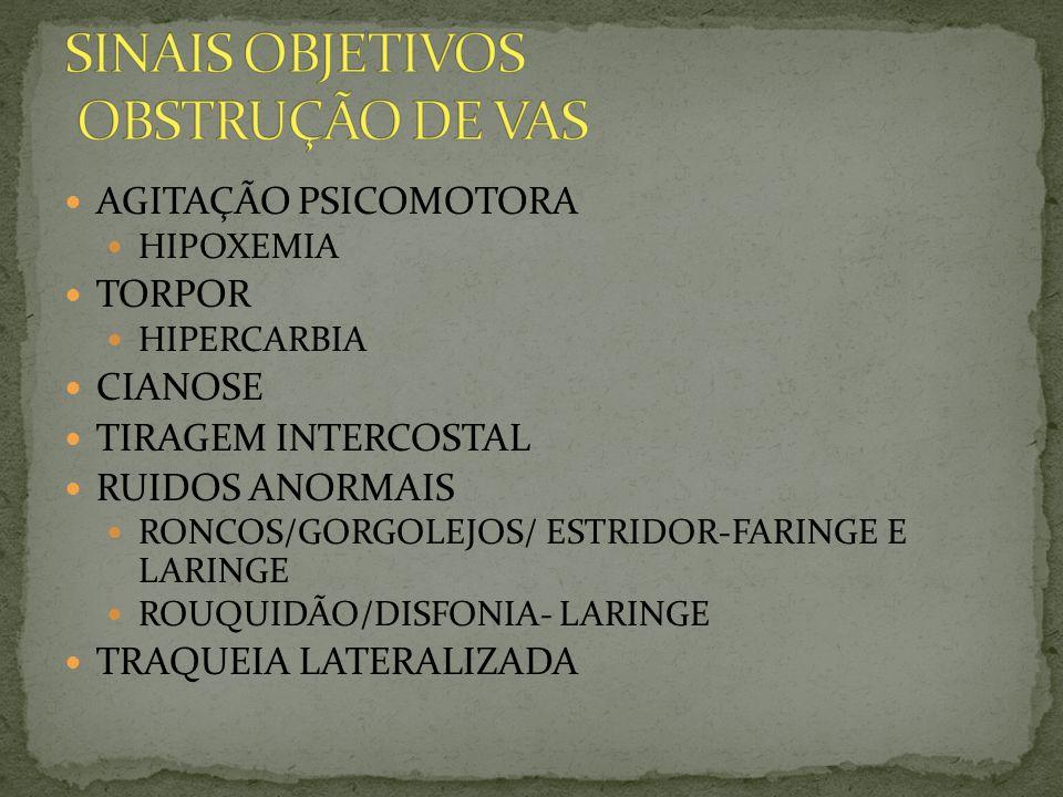 SINAIS OBJETIVOS OBSTRUÇÃO DE VAS