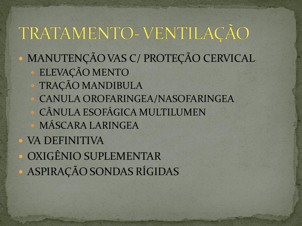 TRATAMENTO- VENTILAÇÃO
