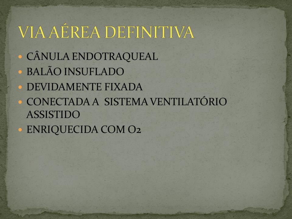 VIA AÉREA DEFINITIVA CÂNULA ENDOTRAQUEAL BALÃO INSUFLADO