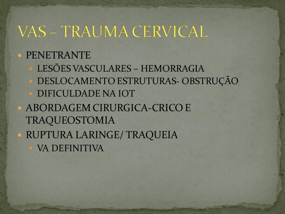 VAS – TRAUMA CERVICAL PENETRANTE