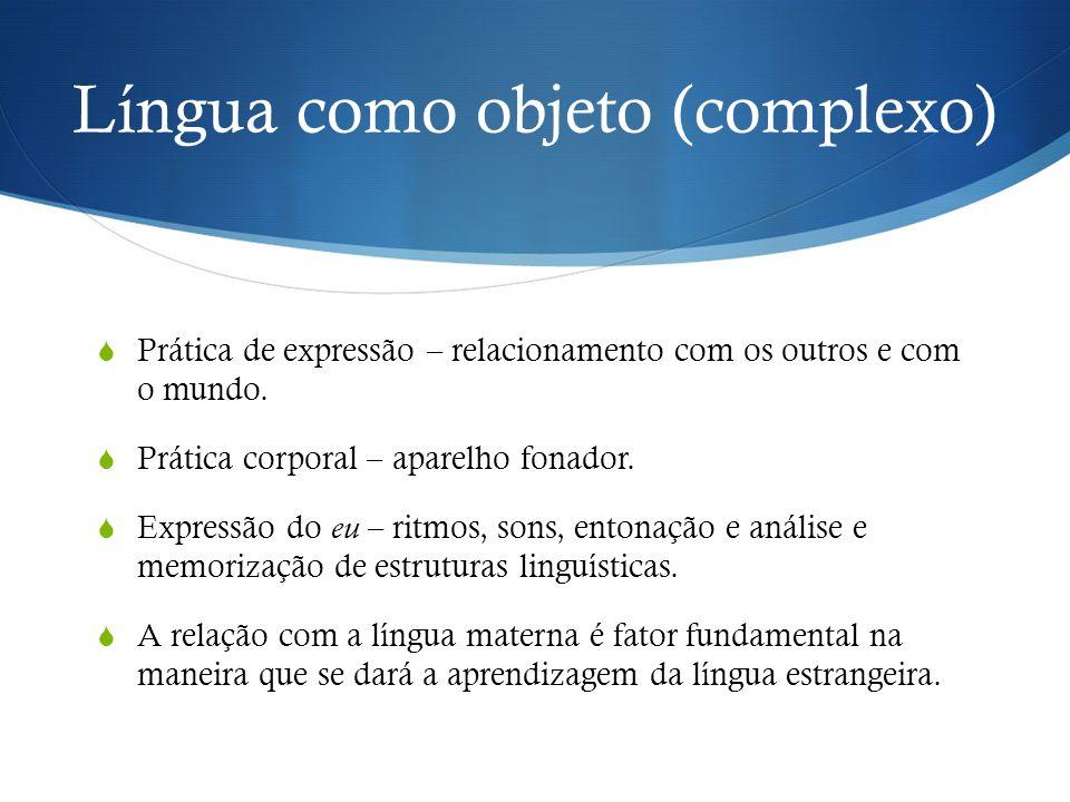 Língua como objeto (complexo)