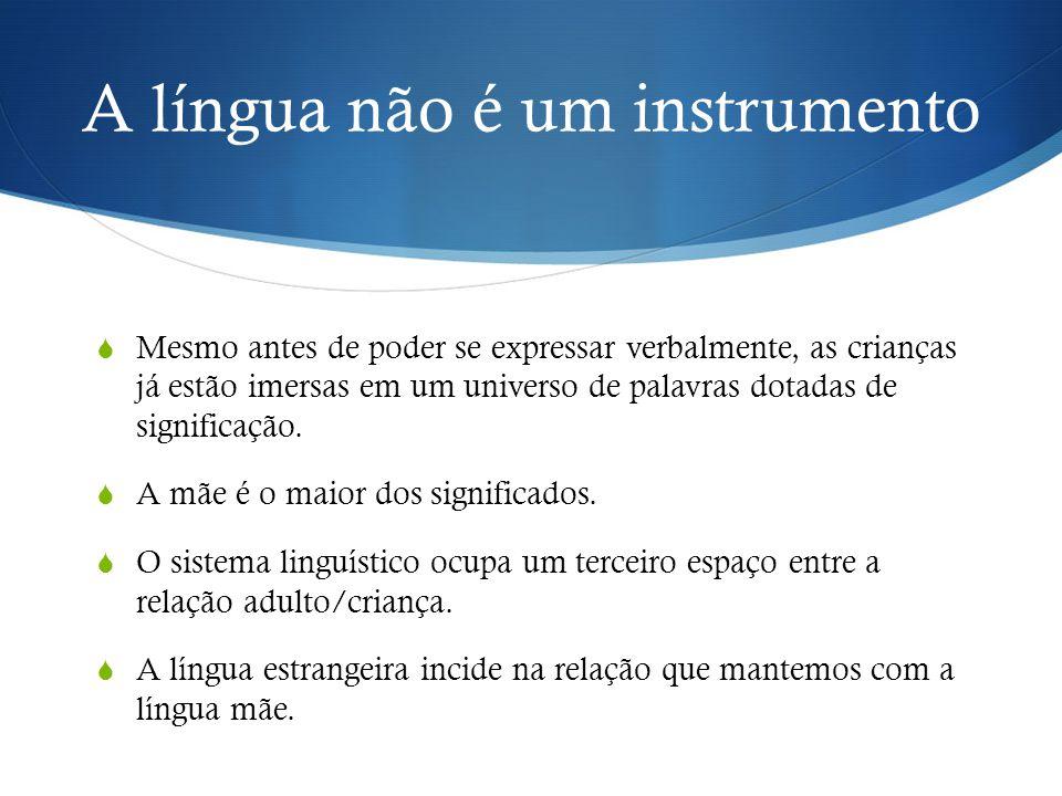 A língua não é um instrumento