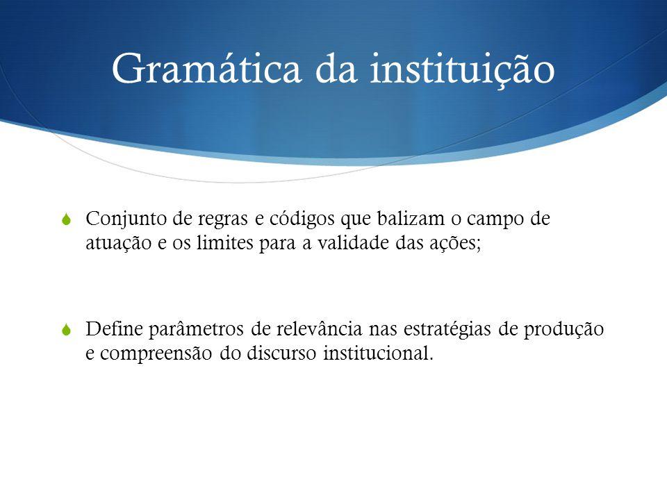 Gramática da instituição