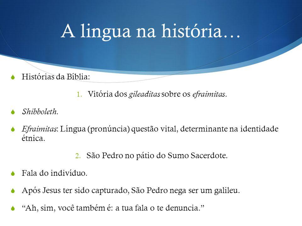 A lingua na história… Histórias da Bíblia: