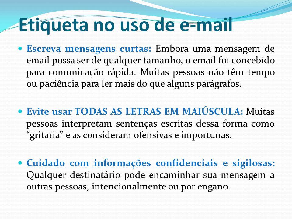 Etiqueta no uso de e-mail