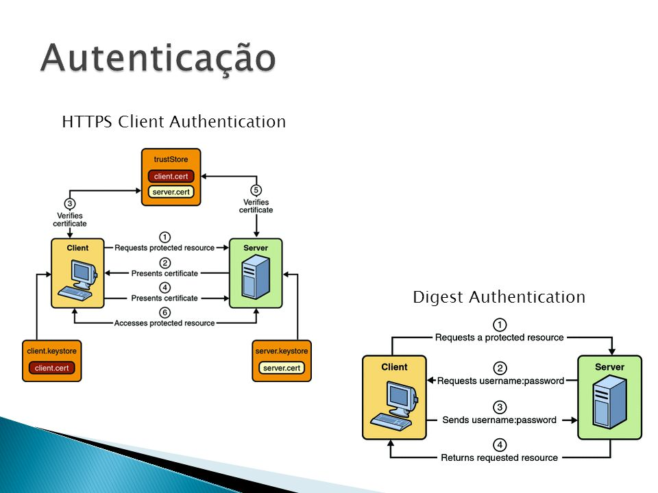 Autenticação HTTPS Client Authentication Digest Authentication
