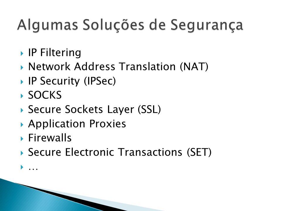 Algumas Soluções de Segurança