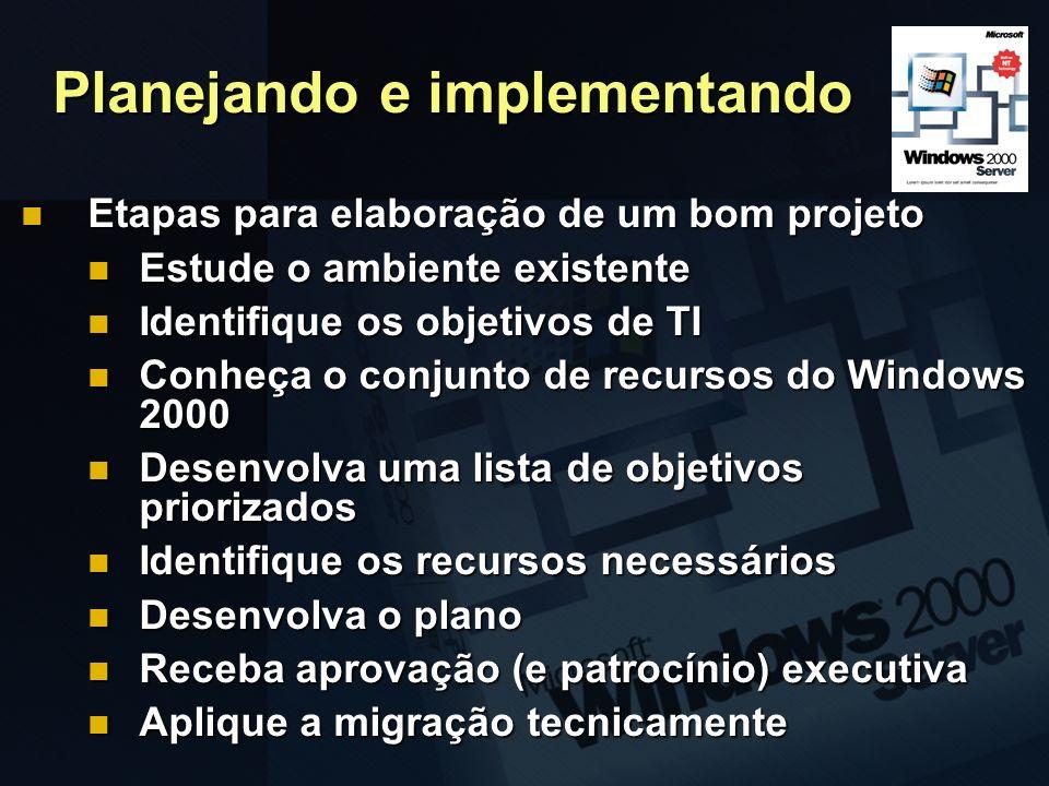 Planejando e implementando