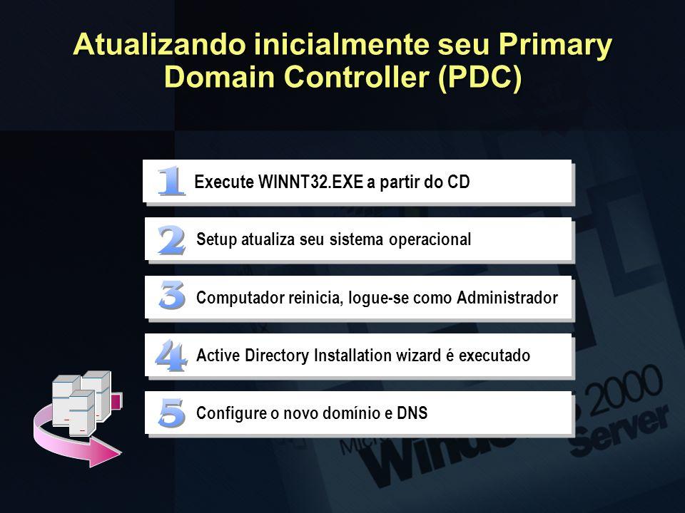 Atualizando inicialmente seu Primary Domain Controller (PDC)