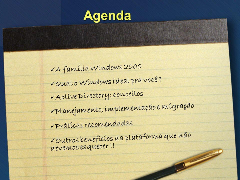 Agenda A família Windows 2000 Qual o Windows ideal pra você