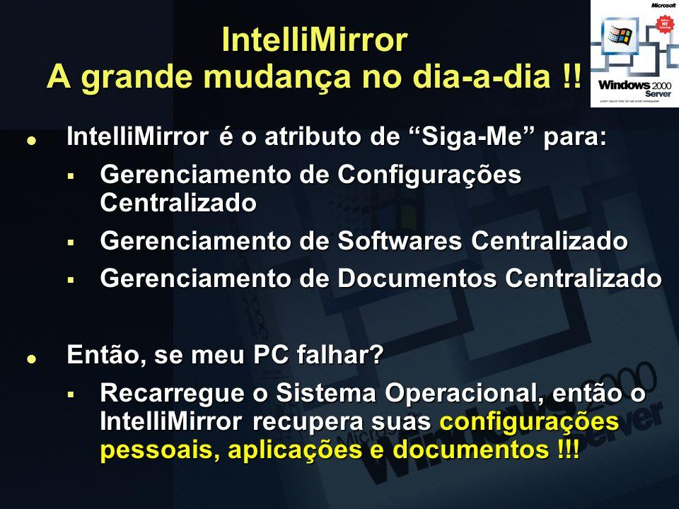 IntelliMirror A grande mudança no dia-a-dia !!