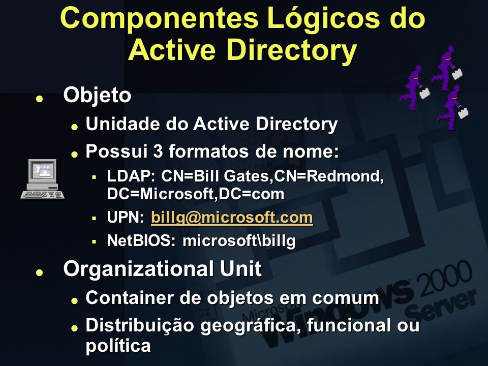 Componentes Lógicos do Active Directory