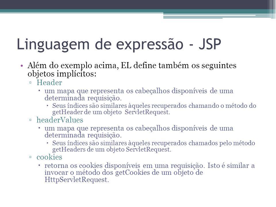 Linguagem de expressão - JSP