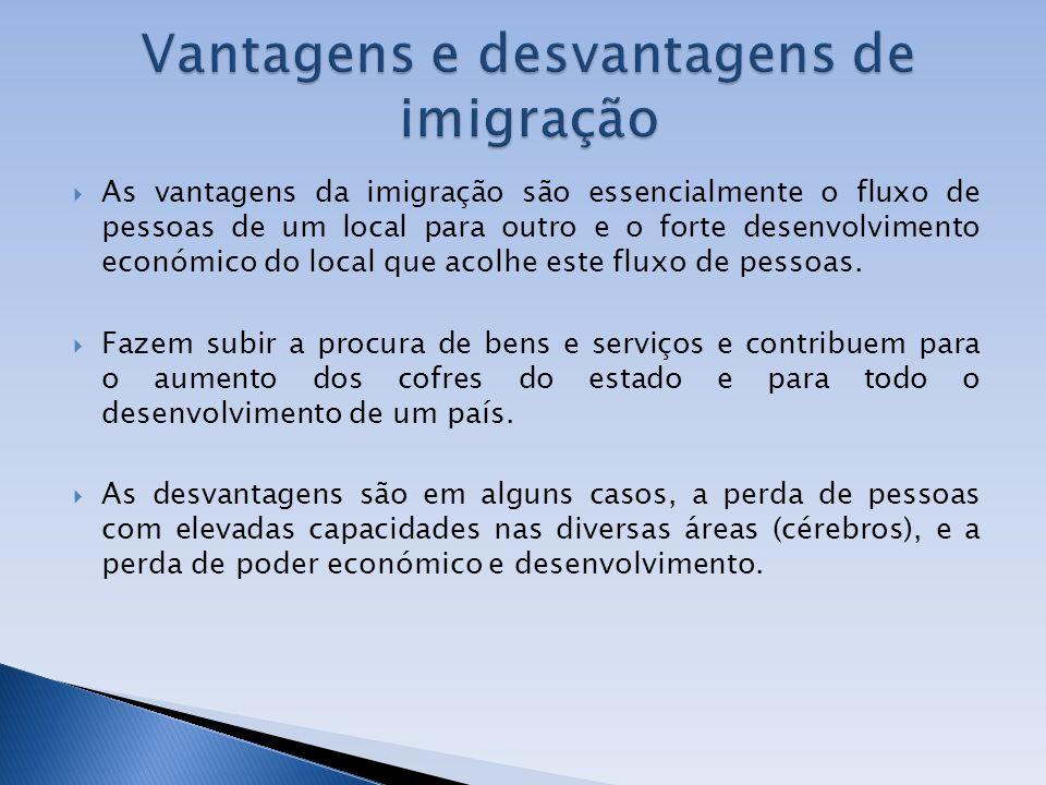 Vantagens e desvantagens de imigração