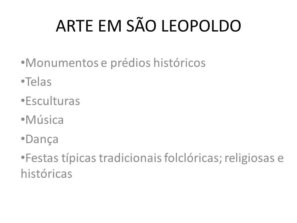 ARTE EM SÃO LEOPOLDO Monumentos e prédios históricos Telas Esculturas