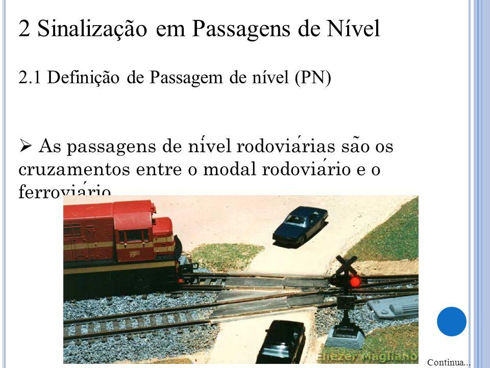 2 Sinalização em Passagens de Nível