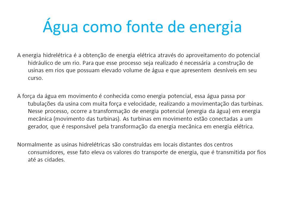 Água como fonte de energia