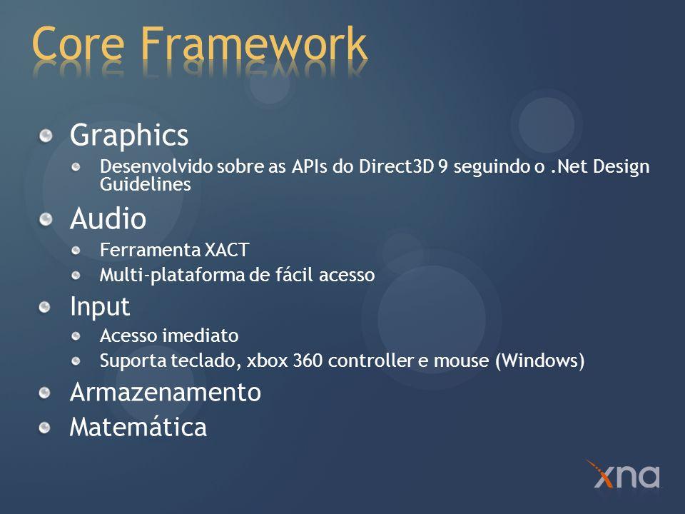 Core Framework Graphics Audio Input Armazenamento Matemática