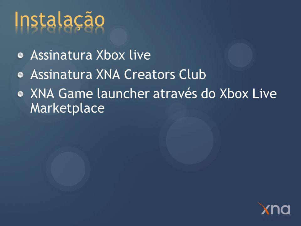 Instalação Assinatura Xbox live Assinatura XNA Creators Club