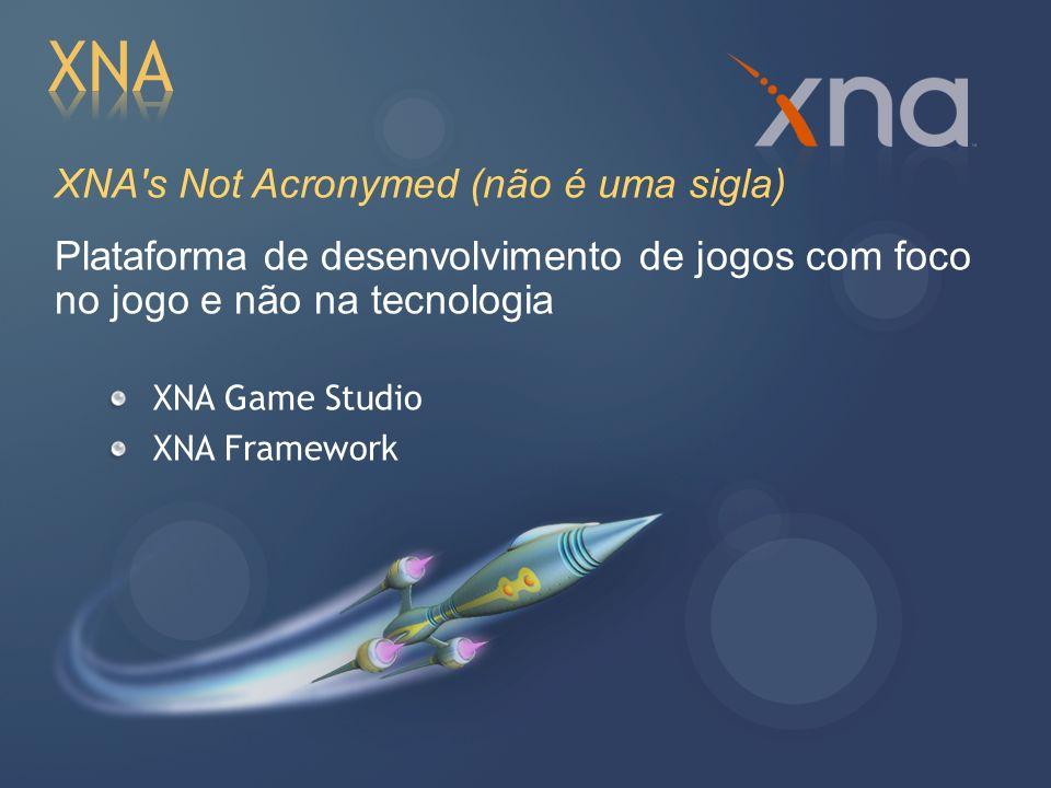 XNA XNA s Not Acronymed (não é uma sigla)