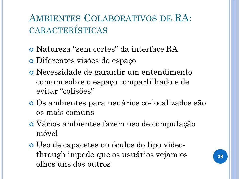 Ambientes Colaborativos de RA: características