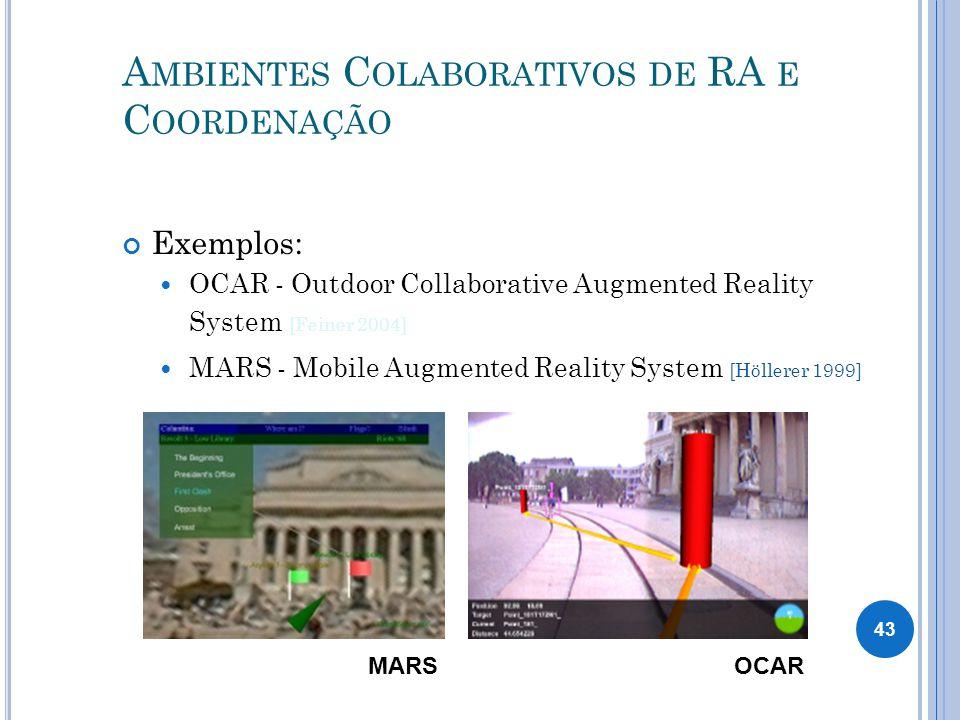 Ambientes Colaborativos de RA e Coordenação