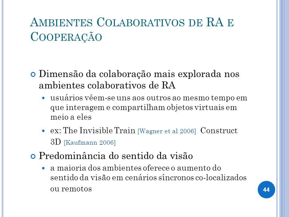 Ambientes Colaborativos de RA e Cooperação