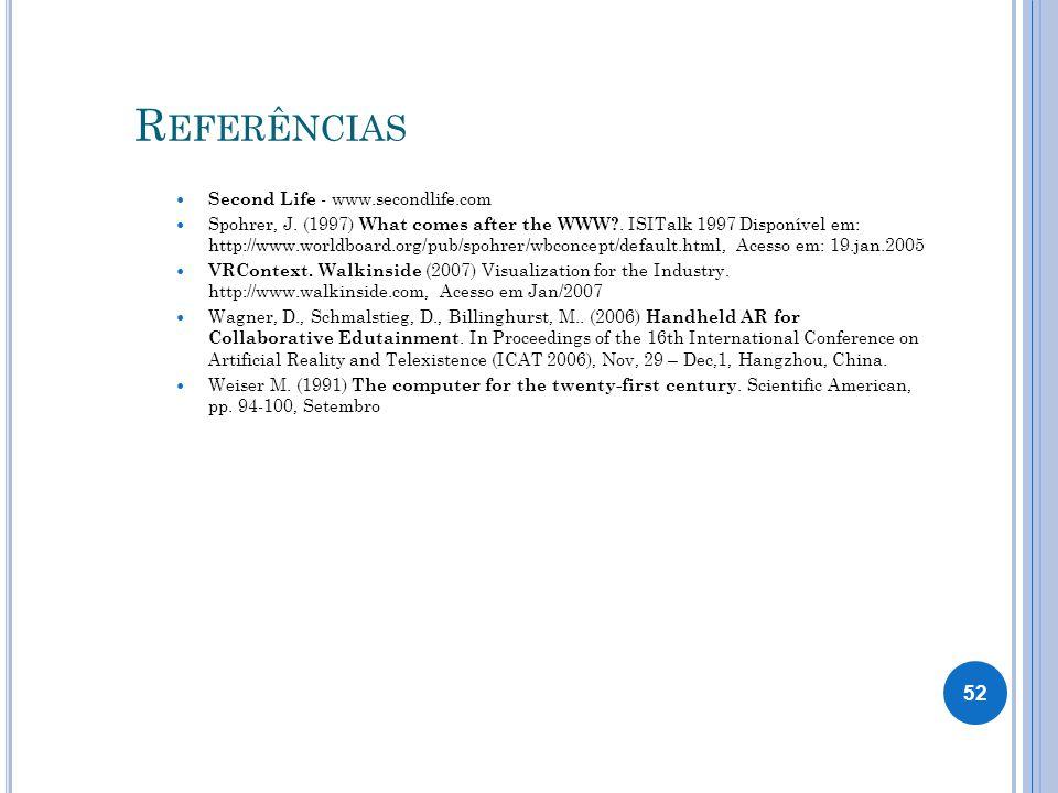 Referências Second Life - www.secondlife.com