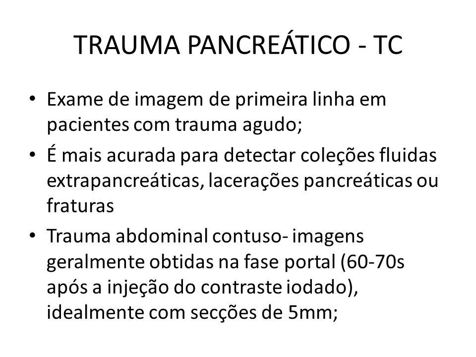 TRAUMA PANCREÁTICO - TC