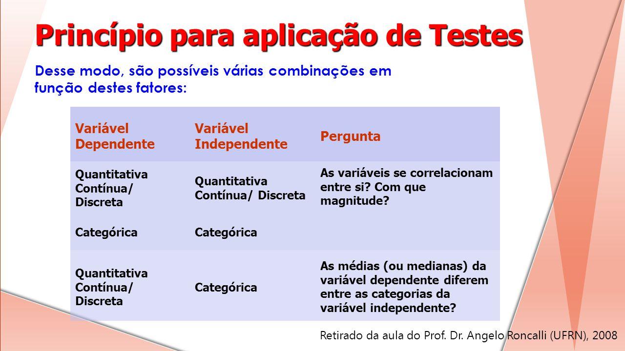 Princípio para aplicação de Testes
