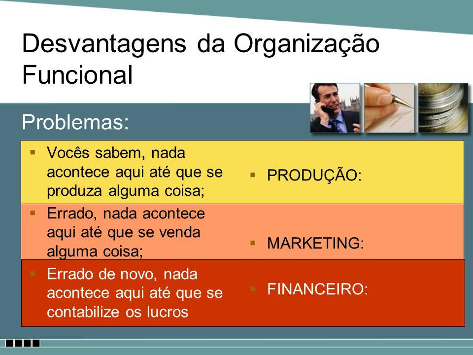 Desvantagens da Organização Funcional