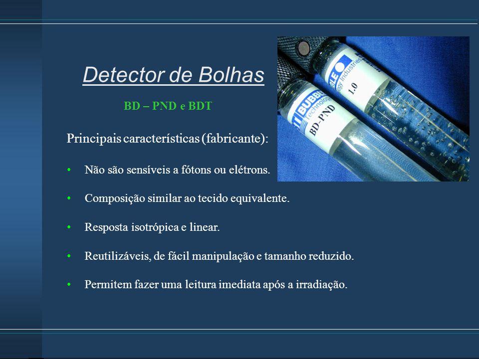 Detector de Bolhas Principais características (fabricante):