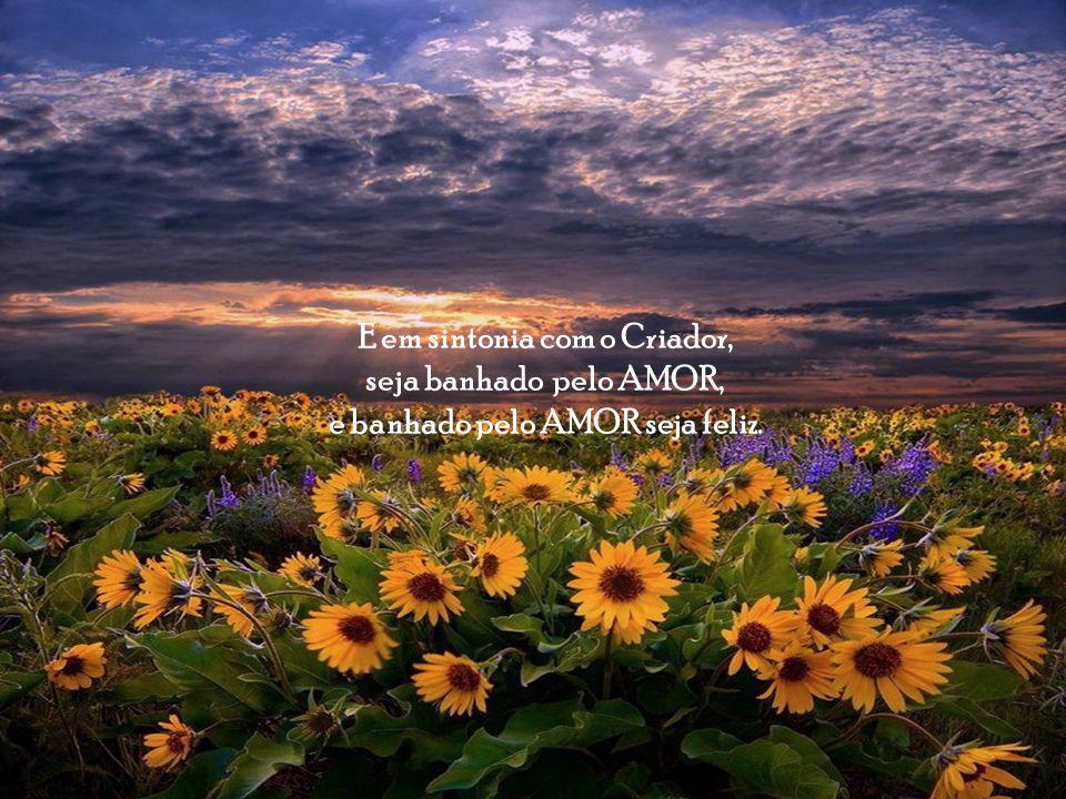 E em sintonia com o Criador, e banhado pelo AMOR seja feliz.