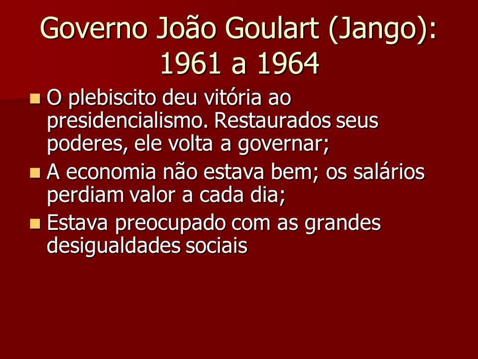 Governo João Goulart (Jango): 1961 a 1964